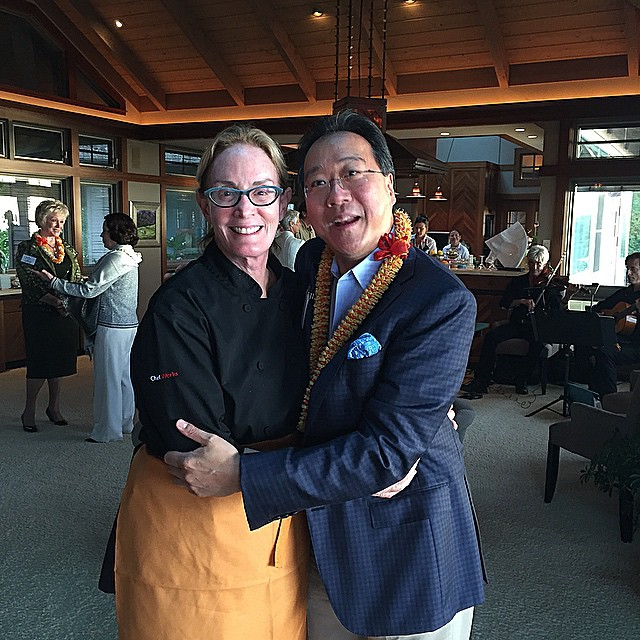 Chef Bev with the amazing @yoyoma such a great artist.…