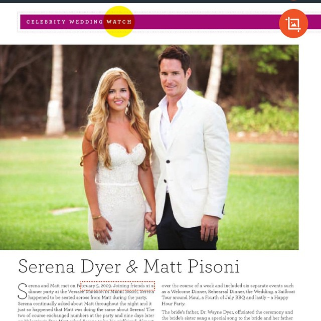 Next page of the article in @bridalfantasymagazine of the beautiful…