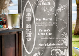 Bar Menu on blackboard