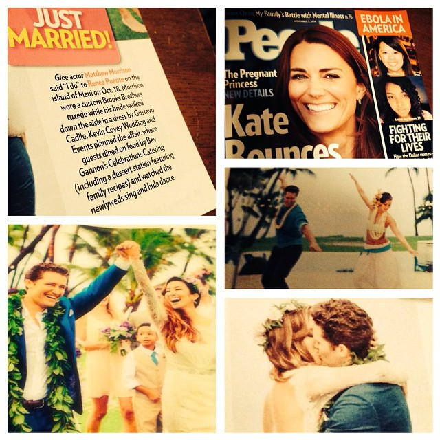 It was so fun to see this weeks issue of People tonight at the checkout line! Especially since our  amazing friends Matthew and Renee where featured! Thanks so much for the shout out... So lovely!!!! #celebrationsmaui #celebtationscatering #bevgannon #mauicaterers #mauicatering #mauiweddings #luxurymauiweddings